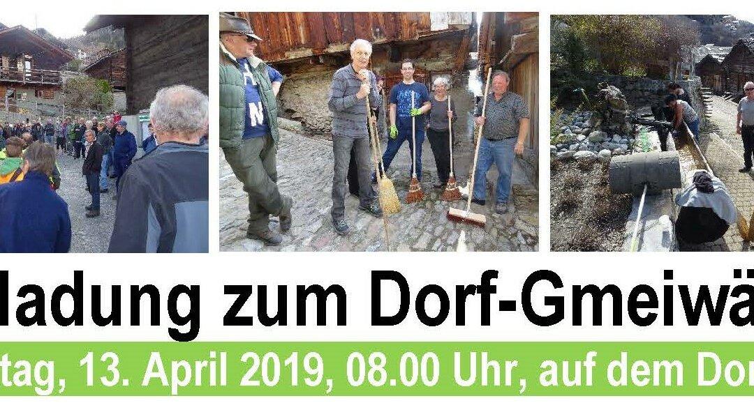 Wieder gute Tradition: Nächstes Dorf-Gmeiwärch ist angesagt