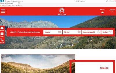 """ALBIJOU ist am Aufstarten – und """"fägt"""" mit starker Homepage"""