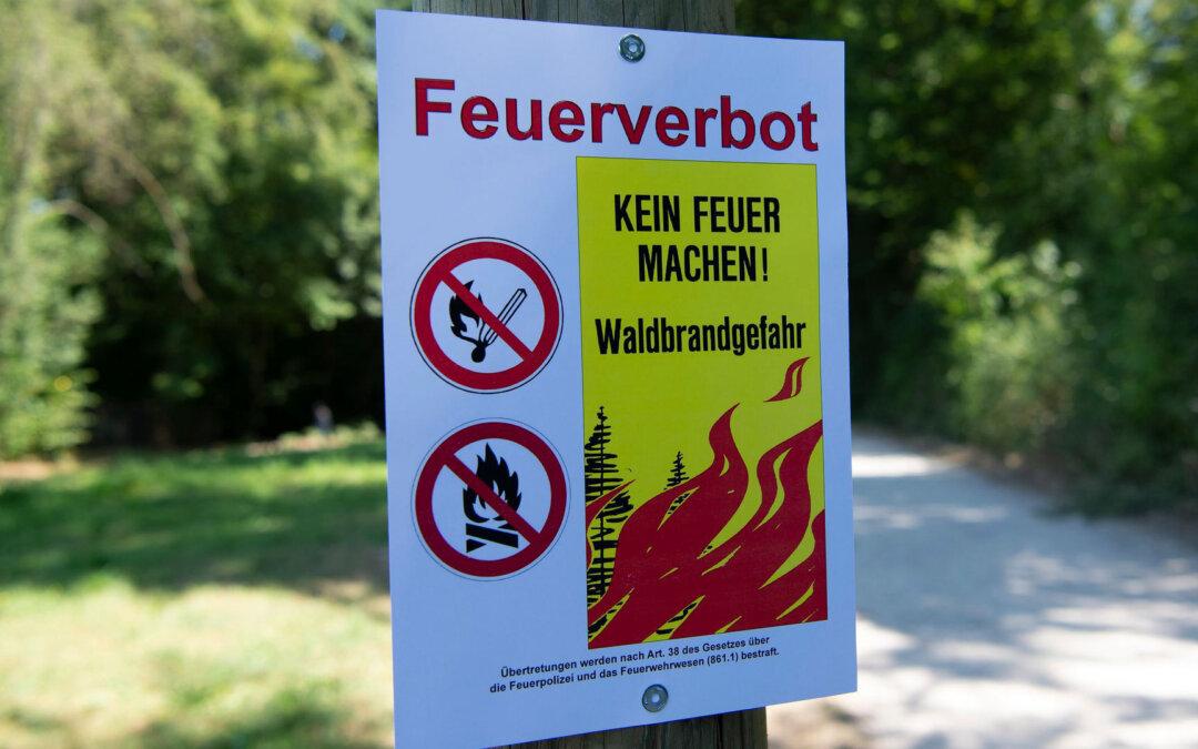 Brandgefahr: Grosse Vorsicht ist geboten